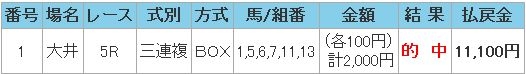 2008.12.31大井5レース三連複.JPG