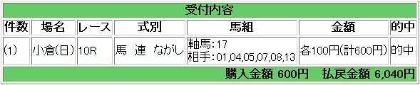 2009.02.22小倉10R馬連流し.JPG