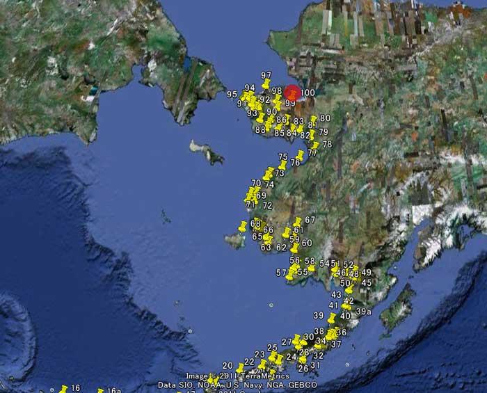 アラスカ西側