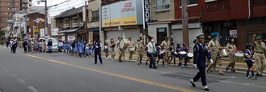旭区交通安全パレード2012