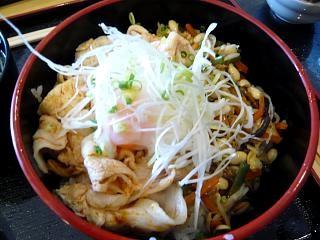 昼食(ビビンパ丼)