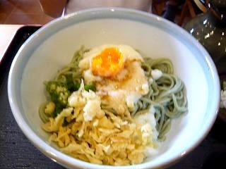 昼食(ぶっかけ蕎麦)