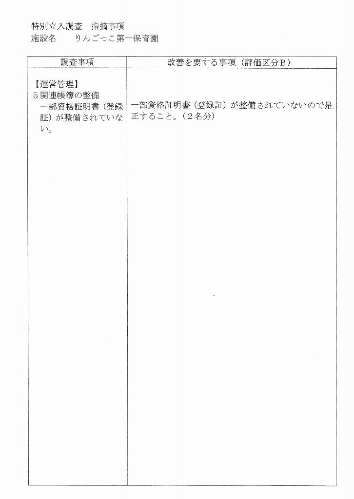 認証・改善指摘事項(20年12月22日)