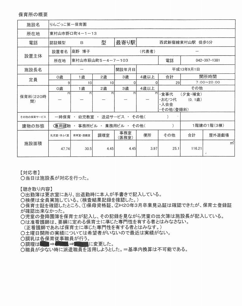特別立入調査書(中)