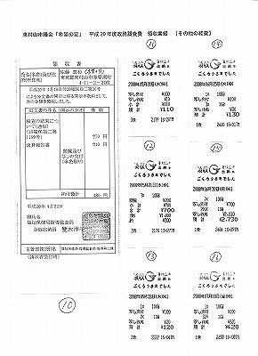政務調査費領収書6