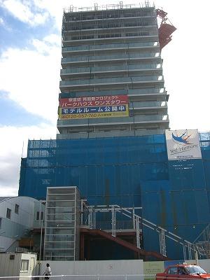 現在19階建築中(あと7階積み上がります)
