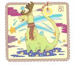 ドラゴンの切手