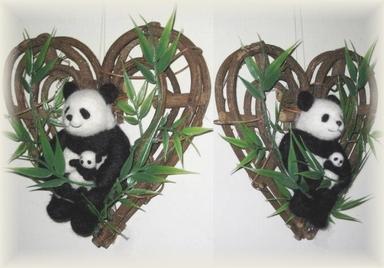 パンダと笹リース