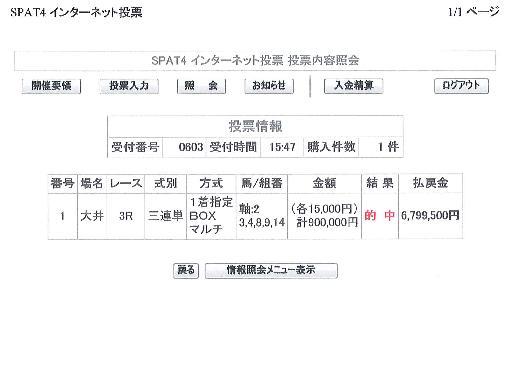 2009年3月25日 (水) 大井第3競走②