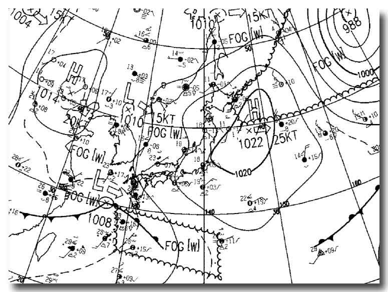 29日の天気図(ASAS_052909より抜粋)