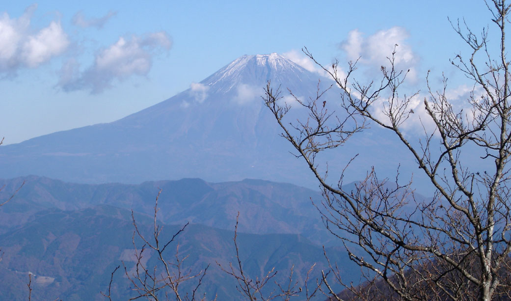2007年11月22日 途中から見る富士山