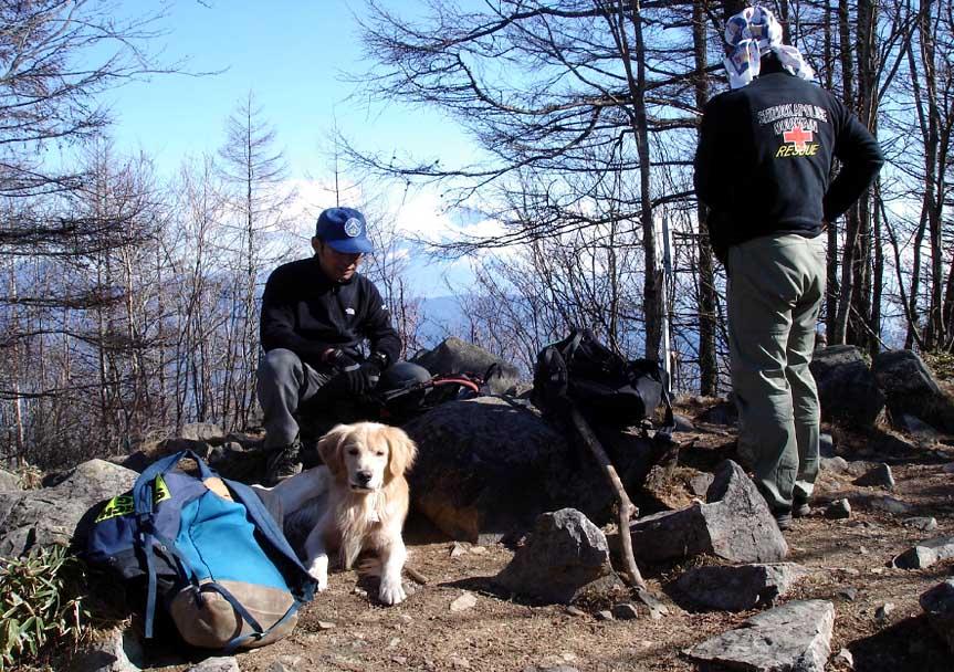 2007年11月22日 八紘嶺山頂にて