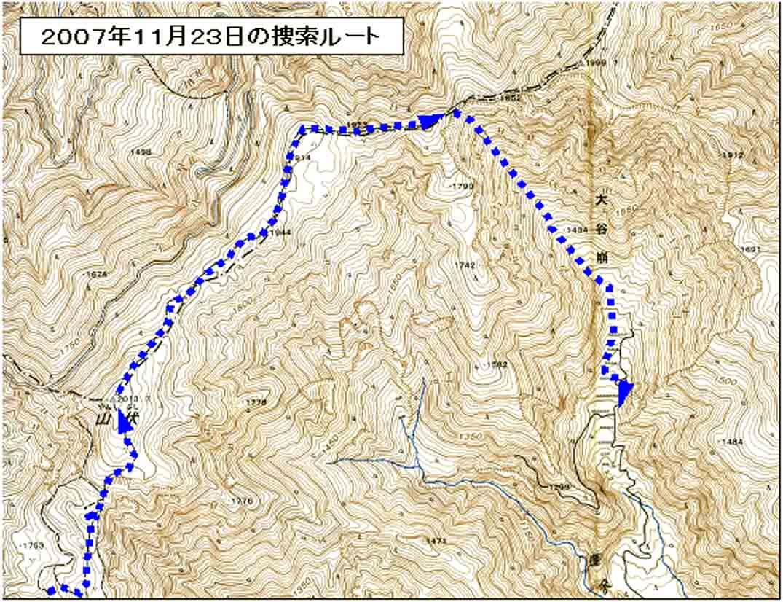 2007年11月23日の捜索地図3