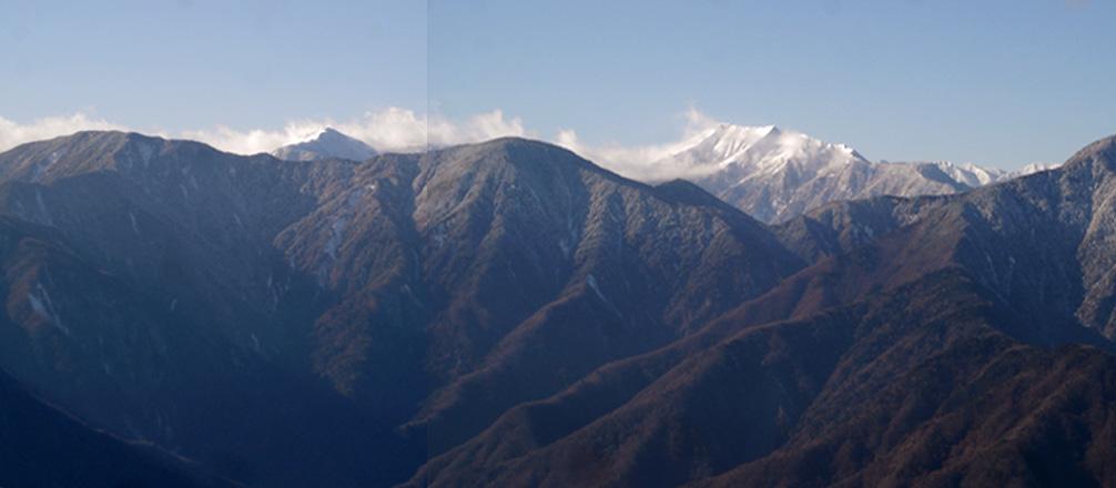 希望峰から上河内~聖岳