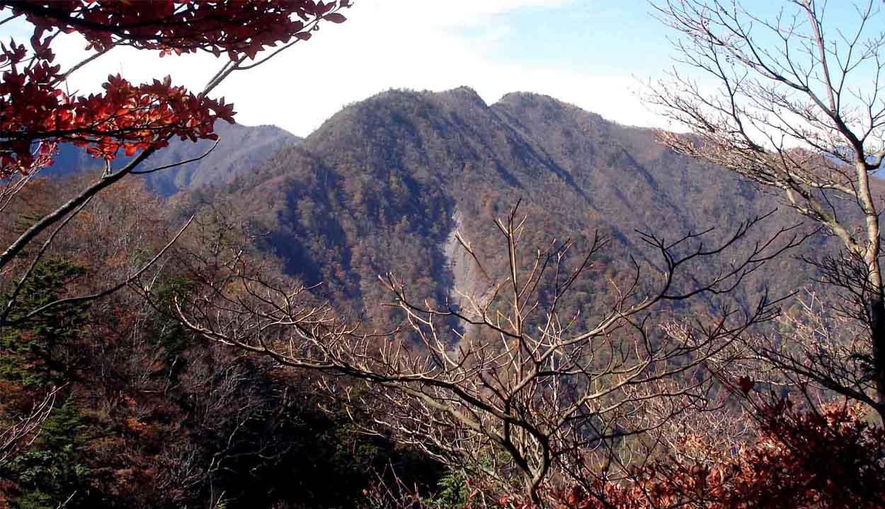 DSC01561 バラの段付近から八紘嶺