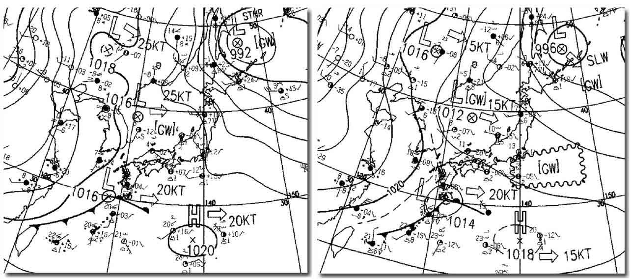 29日日中の地上天気図