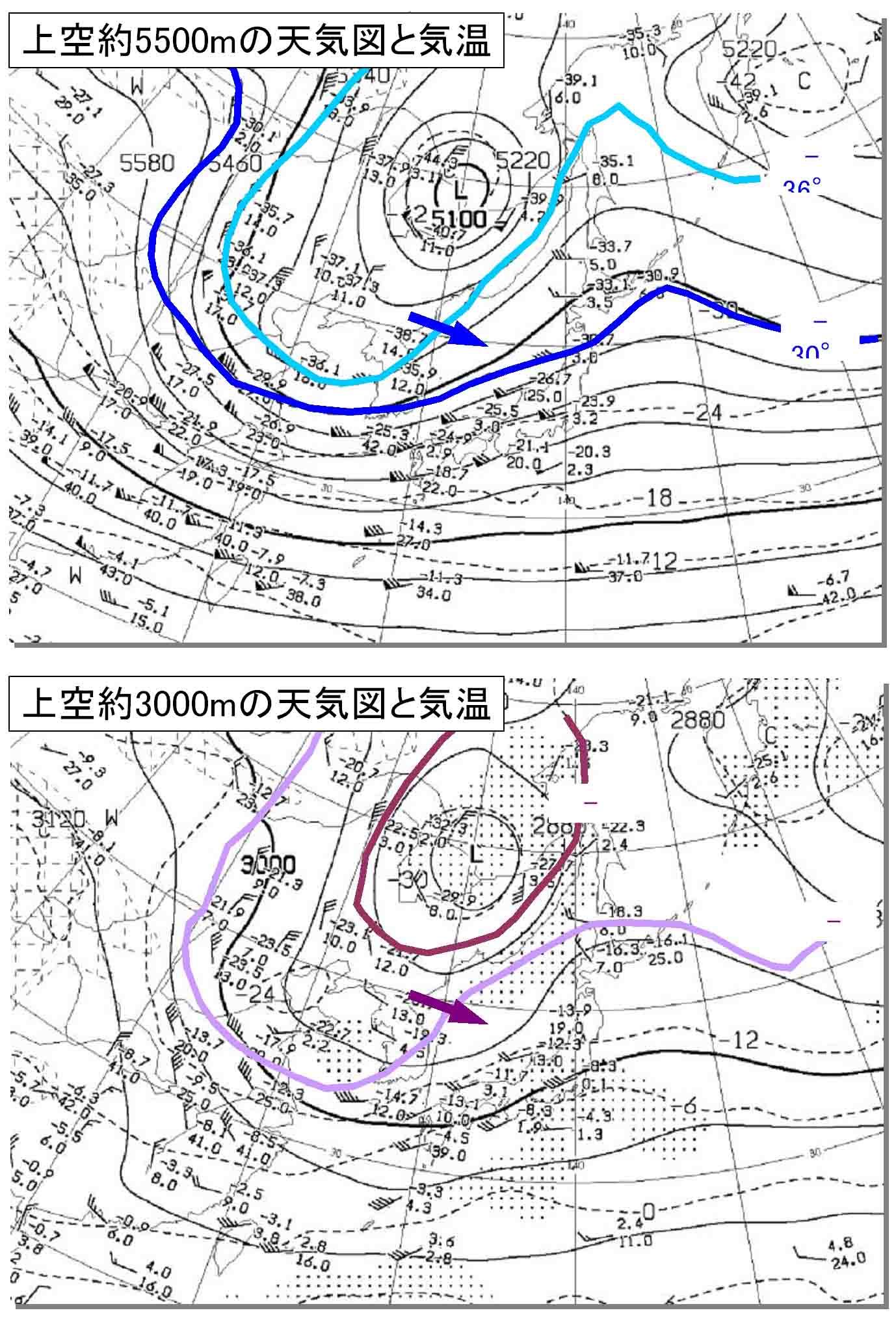 上空に強い寒気接近中(1月9日) 調整