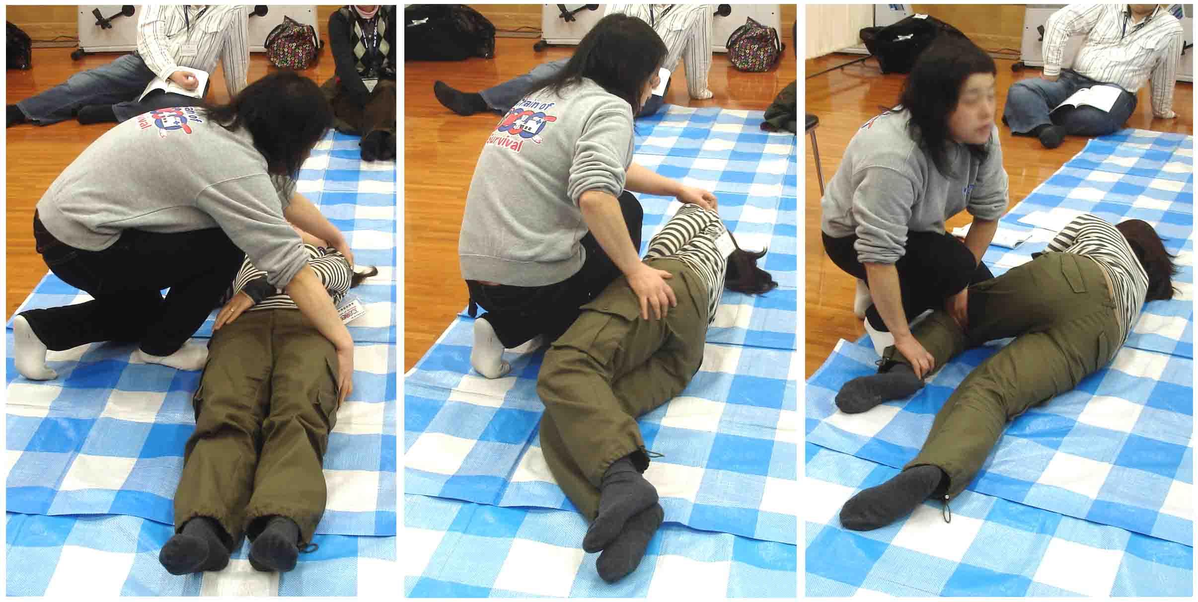 回復体位(側臥位)の段取り
