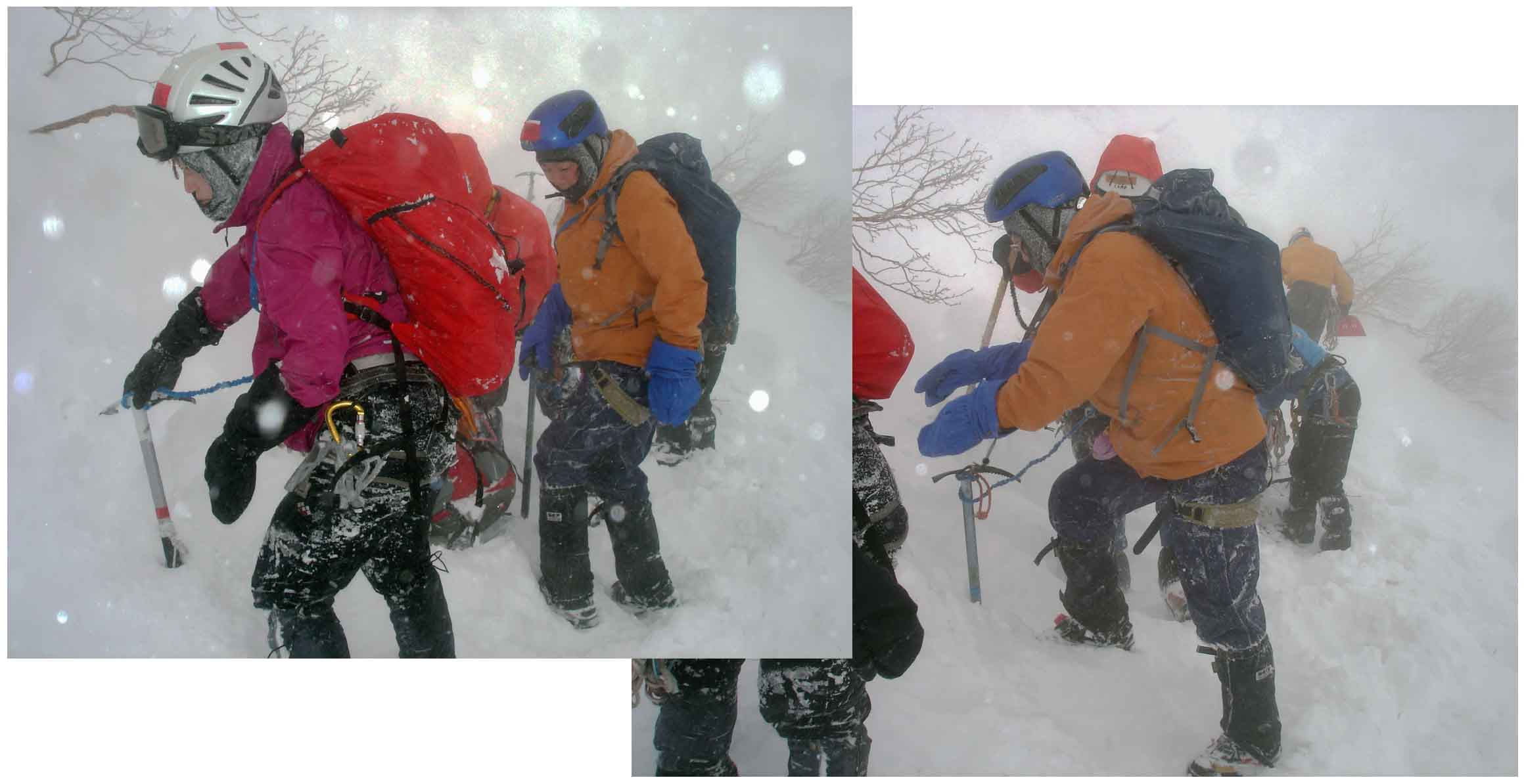 雪庇観察地点移動前の円柱テストを終えて