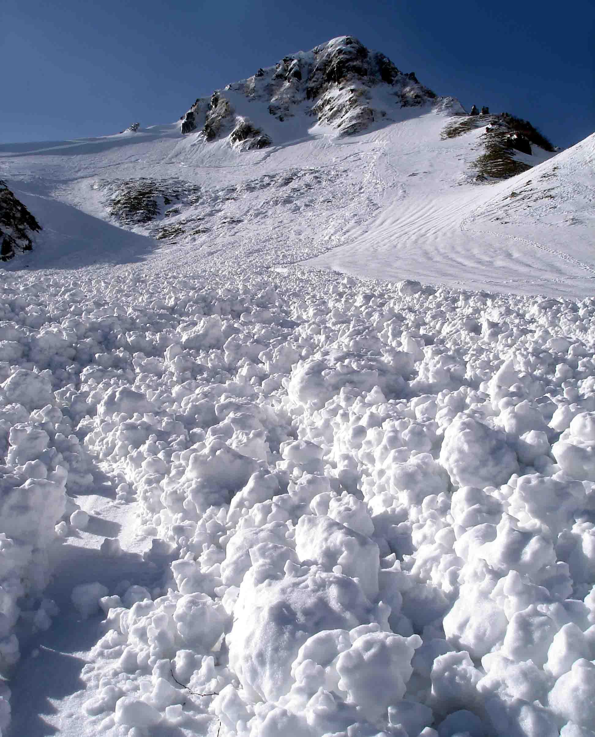 極楽平側雪崩跡とデブリ DSC05717