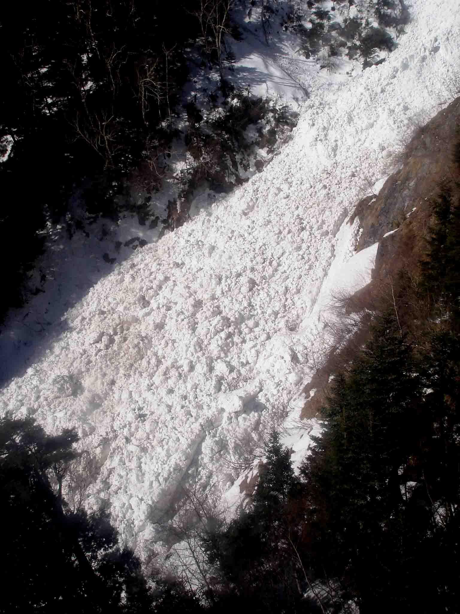 下りケーブルから見る雪河 DSC06030