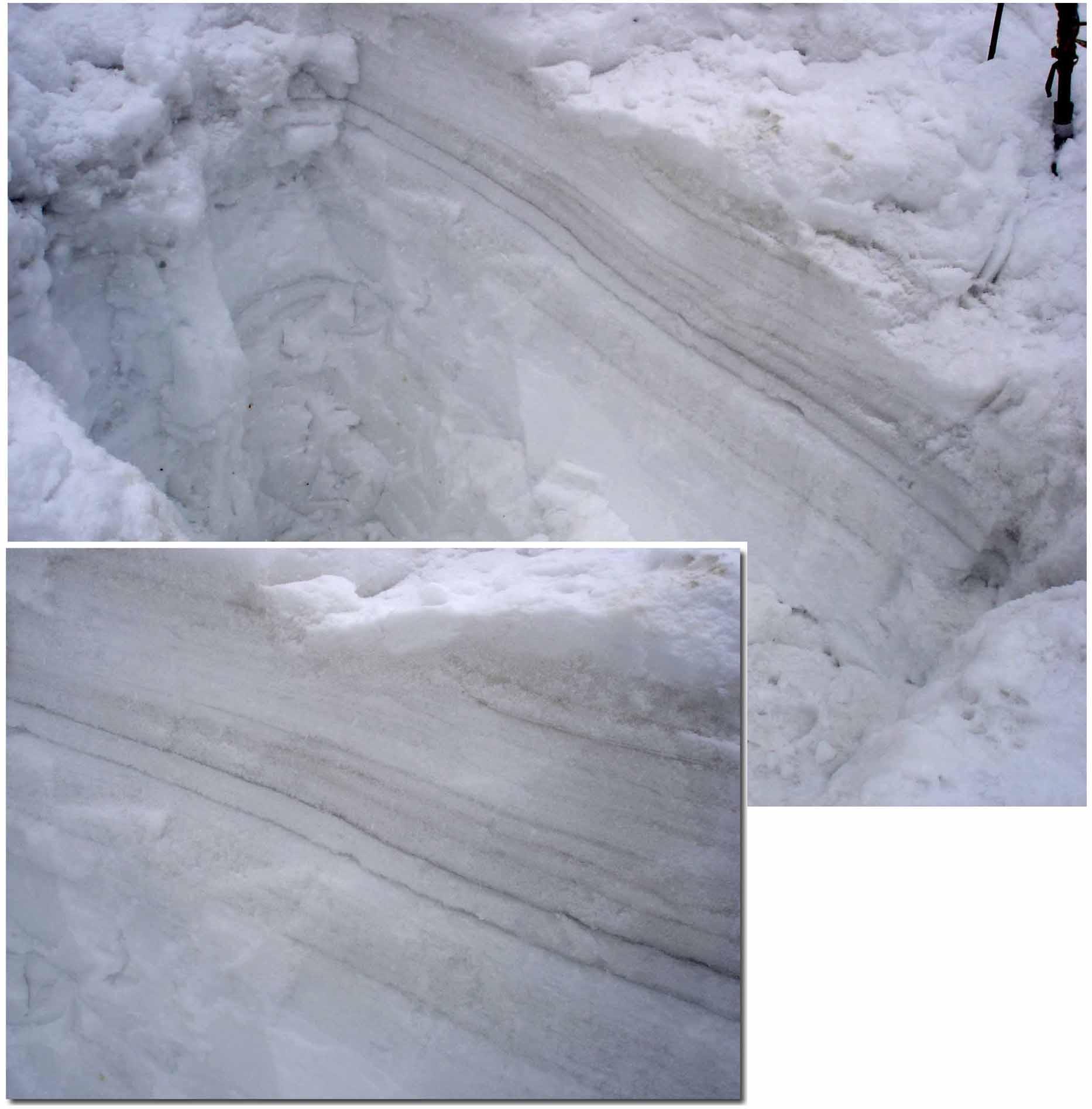 積雪上部に顕著な氷層
