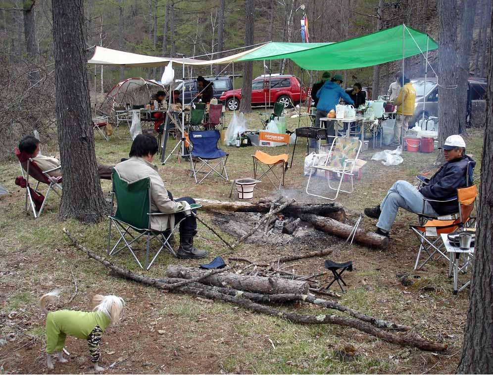4日朝のキャンプ(のんびり)