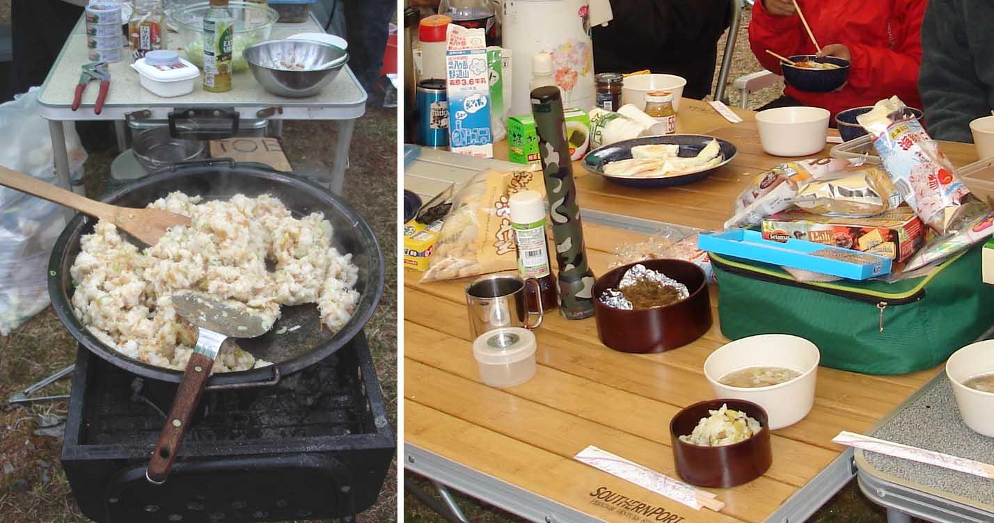 5日の朝と昼飯