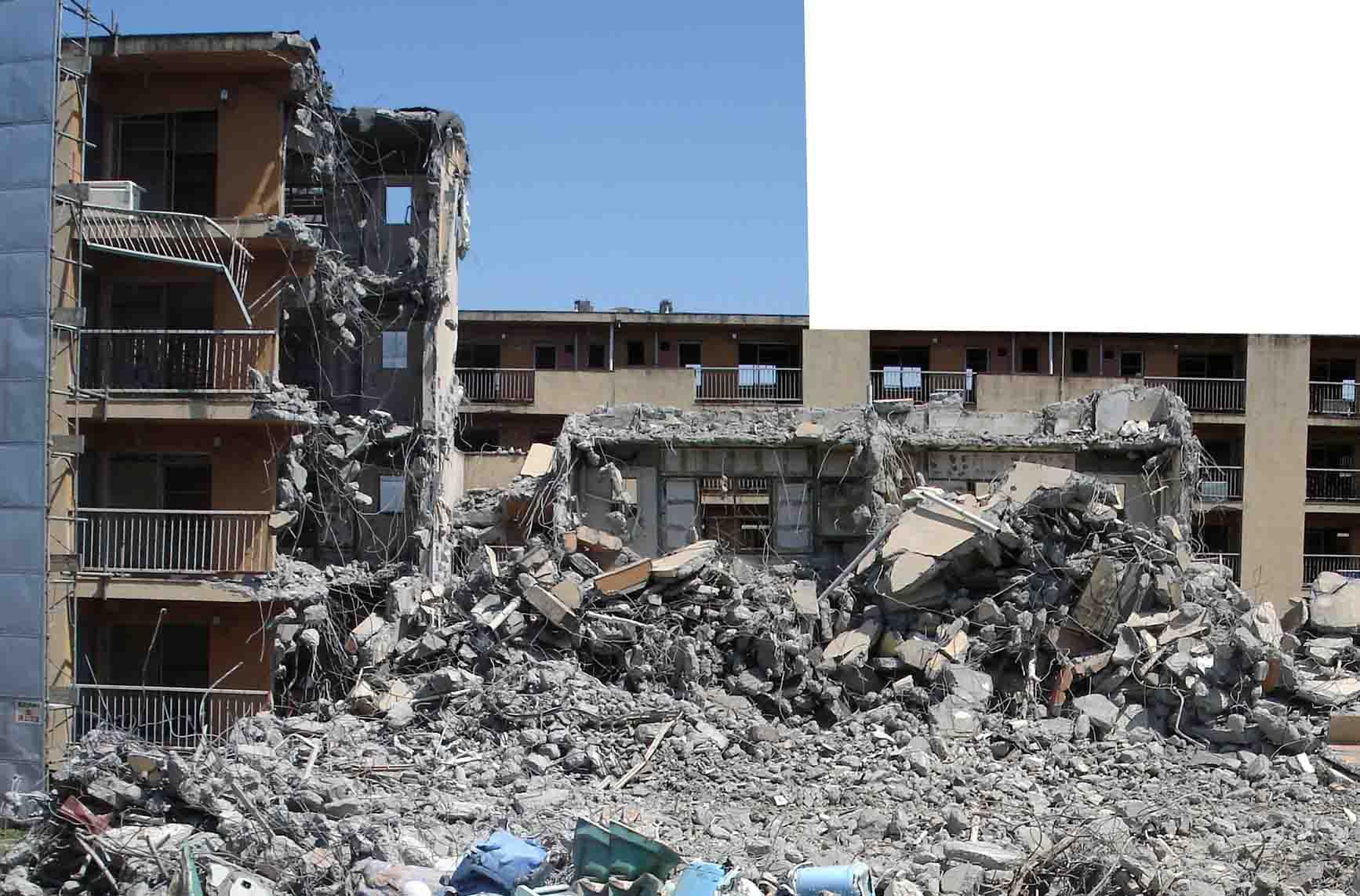午後の訓練① 午後使用の瓦礫全体の様子