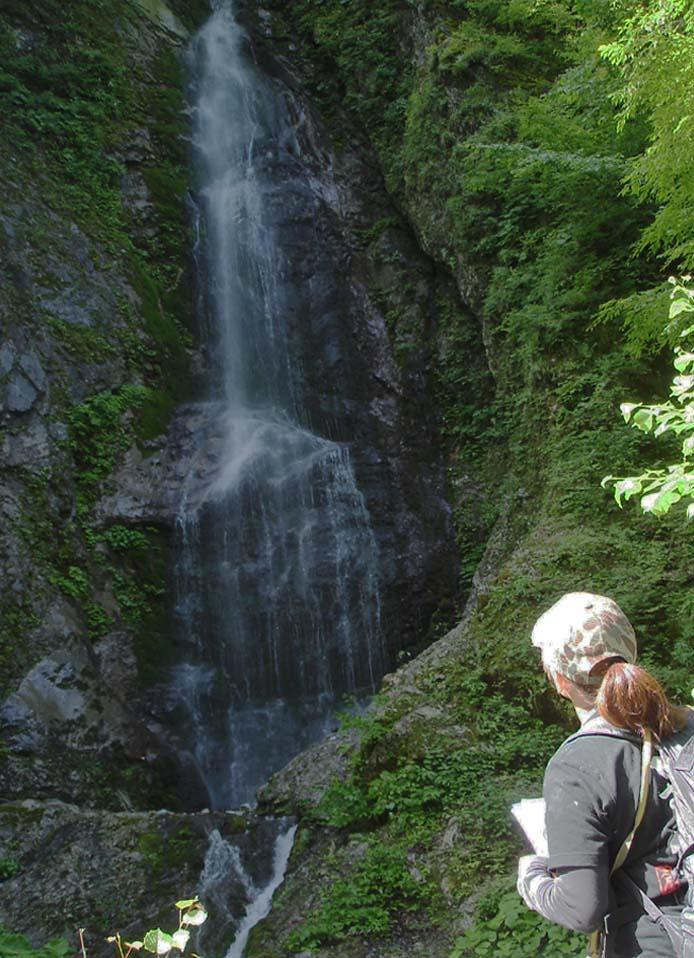 三峰川林道② 巫女淵の滝