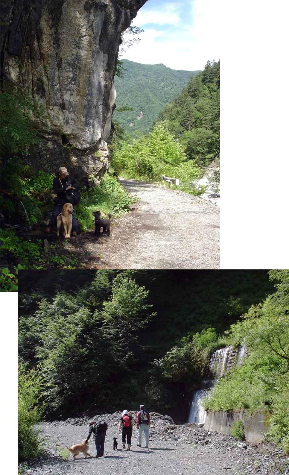 三峰川林道⑤ 延命水とその先