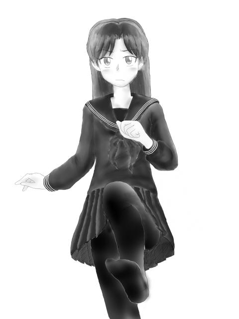 千早セーラー服+黒タイツ