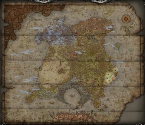 アザルス大陸全図