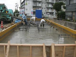 2棟目 スラブコンクリート打設