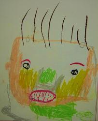 タケちん3歳母の日の絵