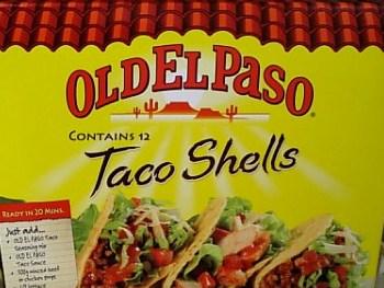 OLD EL Paso Taco Shells でポテトタコライスを作った001