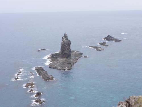 神威岬の先端からの眺め