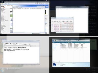 デスクトップ間でのウィンドウの移動