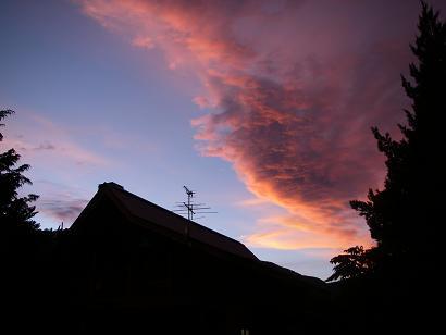 夕焼け空(2008年7月27日)