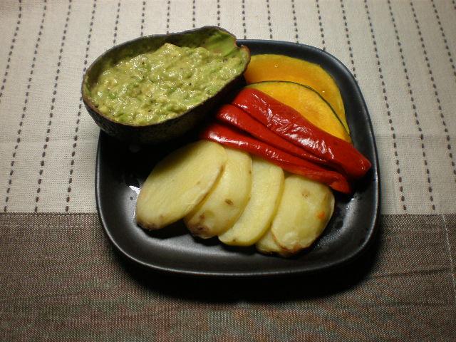 蒸し野菜のアボカドソース添え