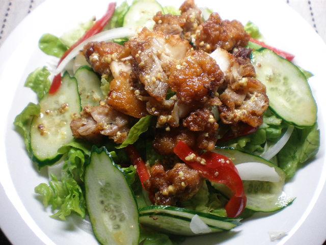 鶏カラ揚げのサラダ2