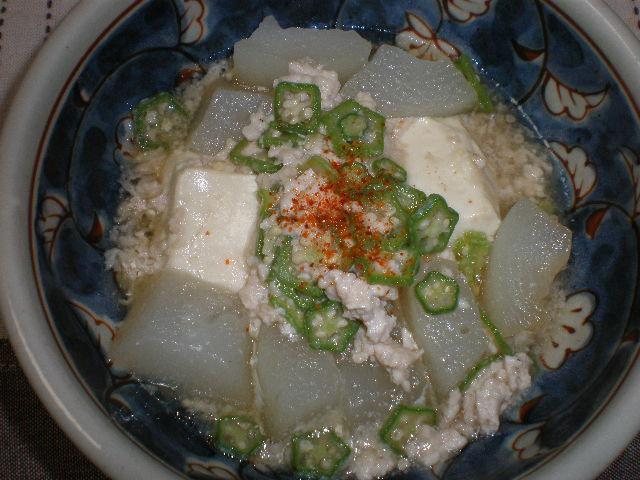 冬瓜と豆腐のひき肉あんかけ
