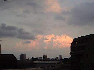 夕焼けに染まる雲