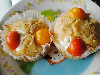 マスカルポーネとトマトのマフィン