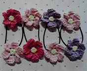 お花ヘアゴム 3