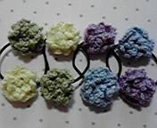 お花ヘアゴム 4