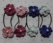お花ヘアゴム 6