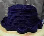 ブリム付きの帽子