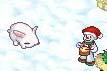 ウサギに雪はよく似合う
