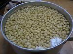 水に漬けた大豆